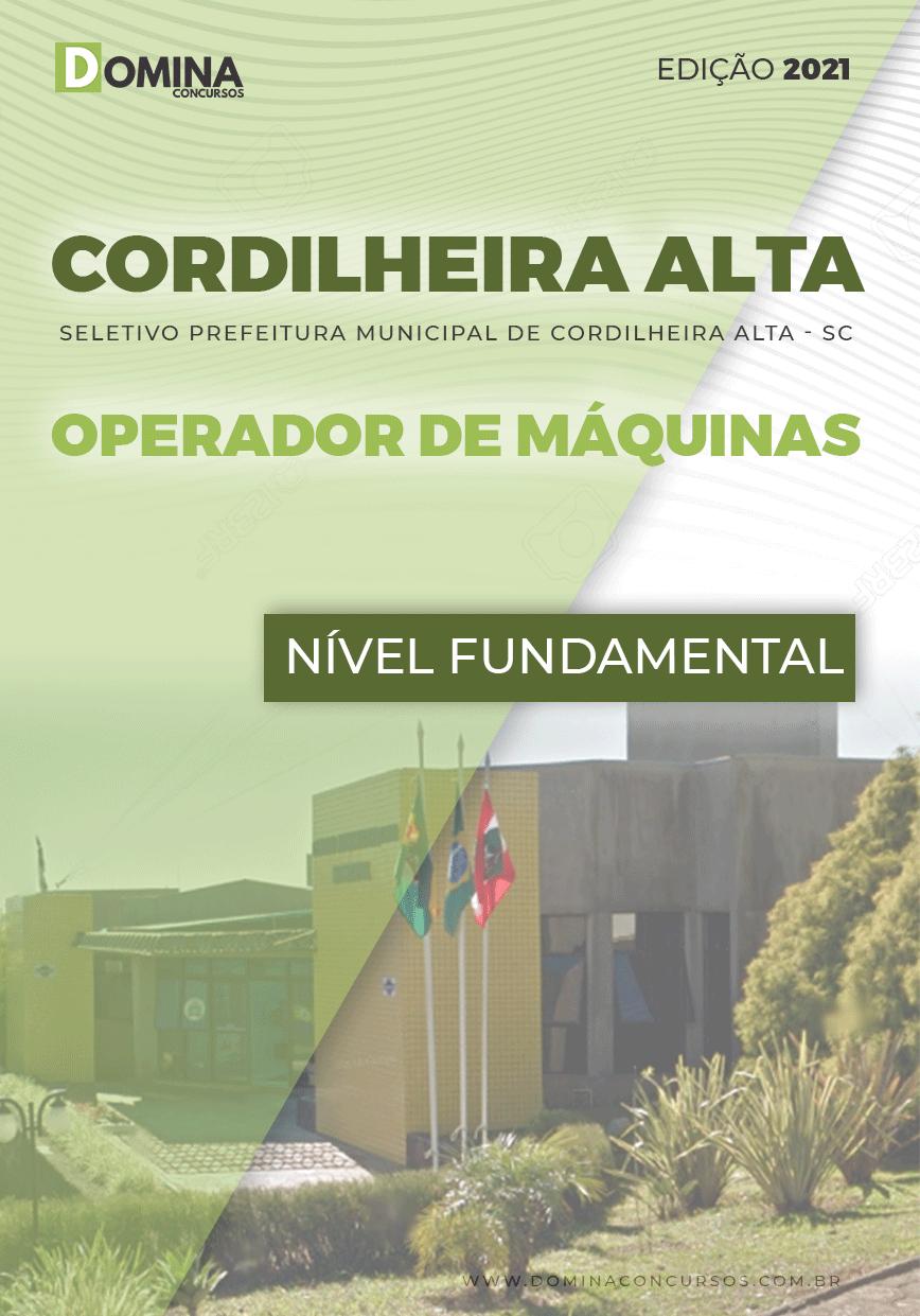 Apostila Pref Cordilheira Alta SC 2021 Operador de Máquinas