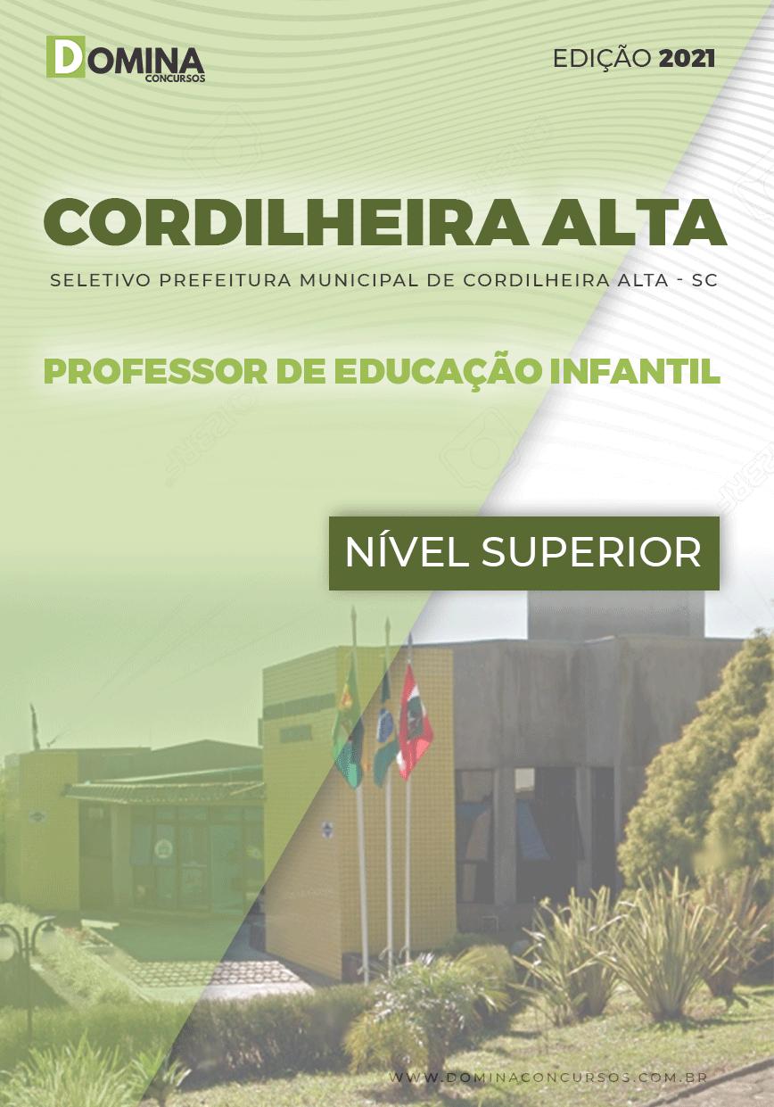 Apostila Pref Cordilheira Alta SC 2021 Prof Educação Infantil