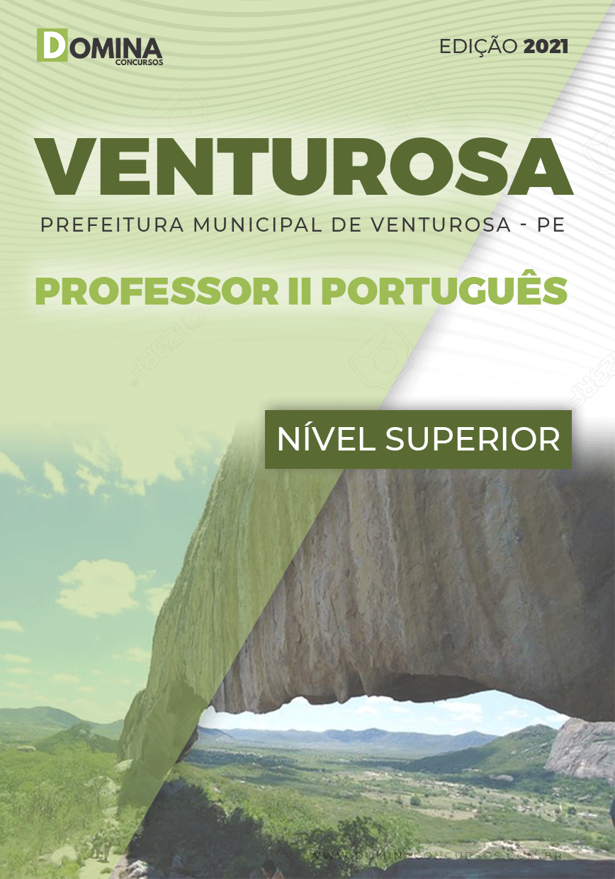 Apostila Pref Venturosa PE 2021 Professor II Português
