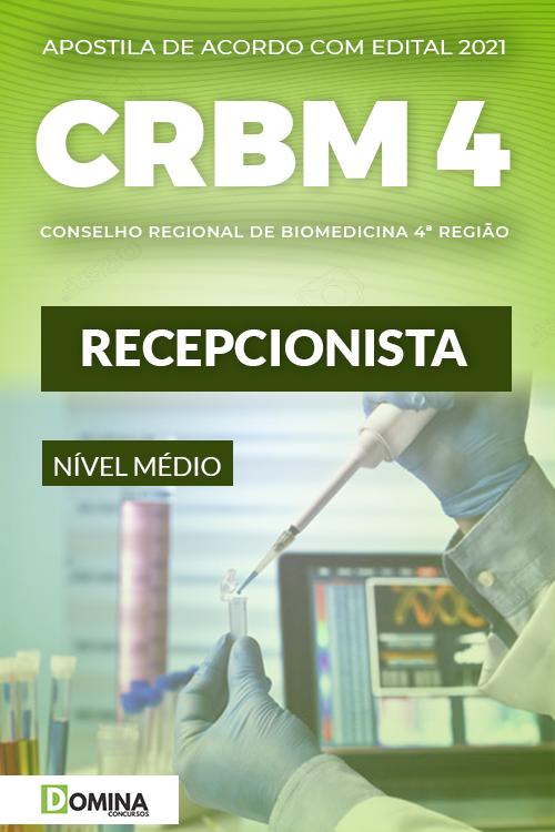 Apostila Concurso Público CRBM 4 2021 Recepcionista