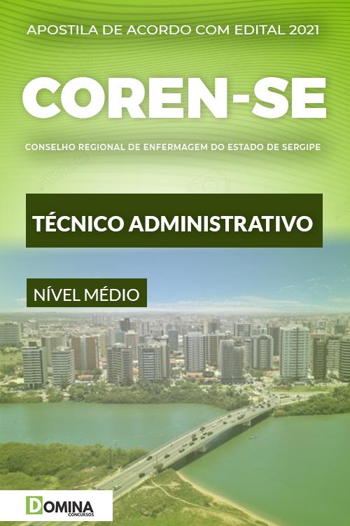Apostila Concurso COREN SE 2021 Técnico Administrativo