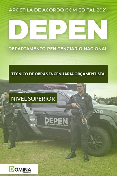 Apostila DEPEN 2021 Técnico de Obras Engenharia Orçamentista