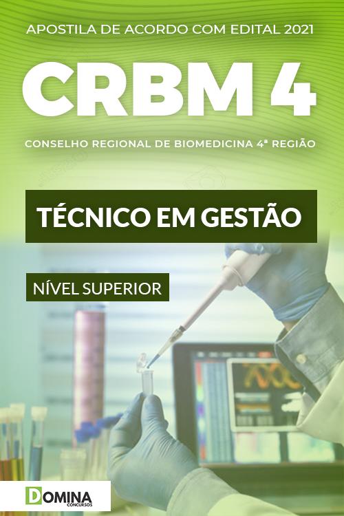 Apostila Concurso Público CRBM 4 2021 Técnico em Gestão