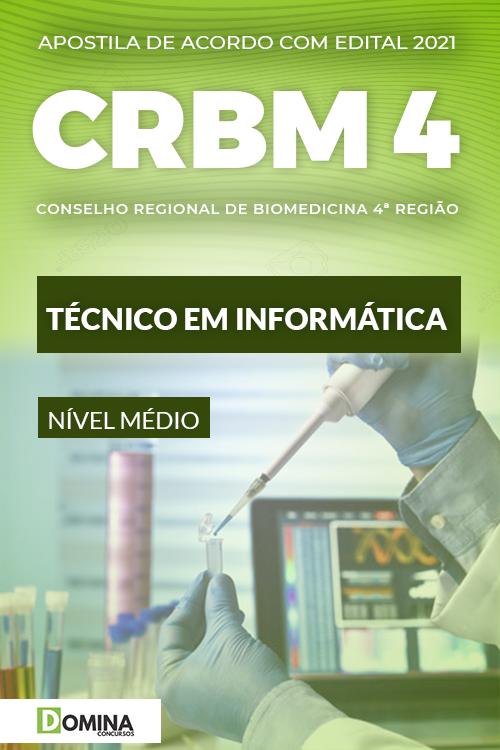 Apostila Concurso CRBM 4 2021 Técnico em Informática