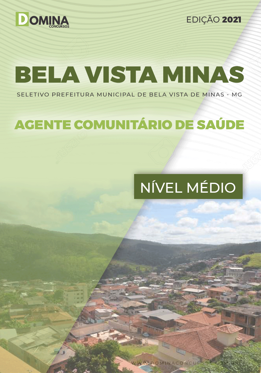 Apostila Bela Vista Minas MG 2021 Agente Comunitário Saúde