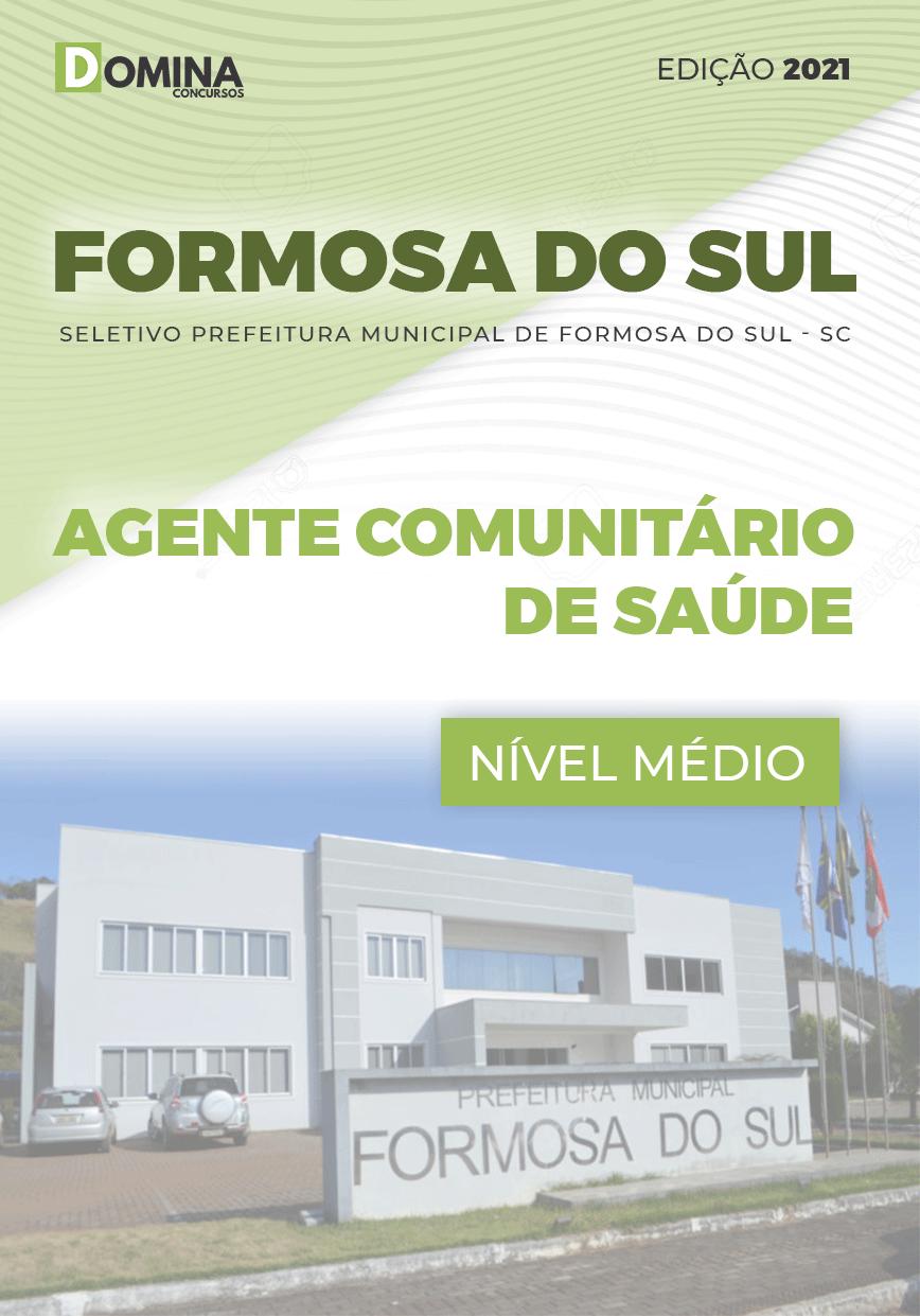 Apostila Formosa do Sul SC 2021 Agente Comunitário Saúde