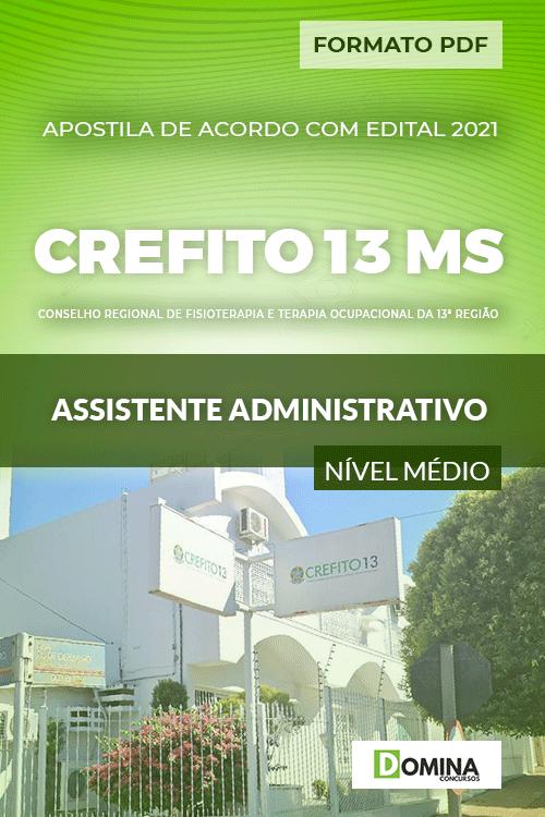 Capa Apostila CREFITO 13 MS 2021 Assistente Administrativo
