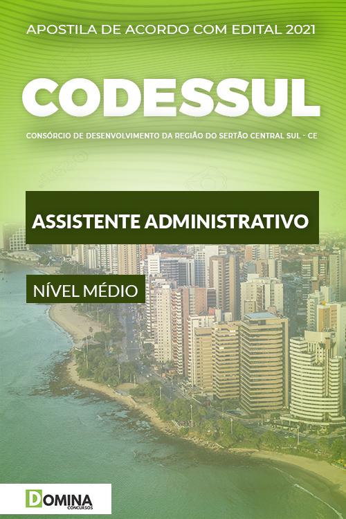 Apostila Concurso CODESSUL 2021 Assistente Administrativo