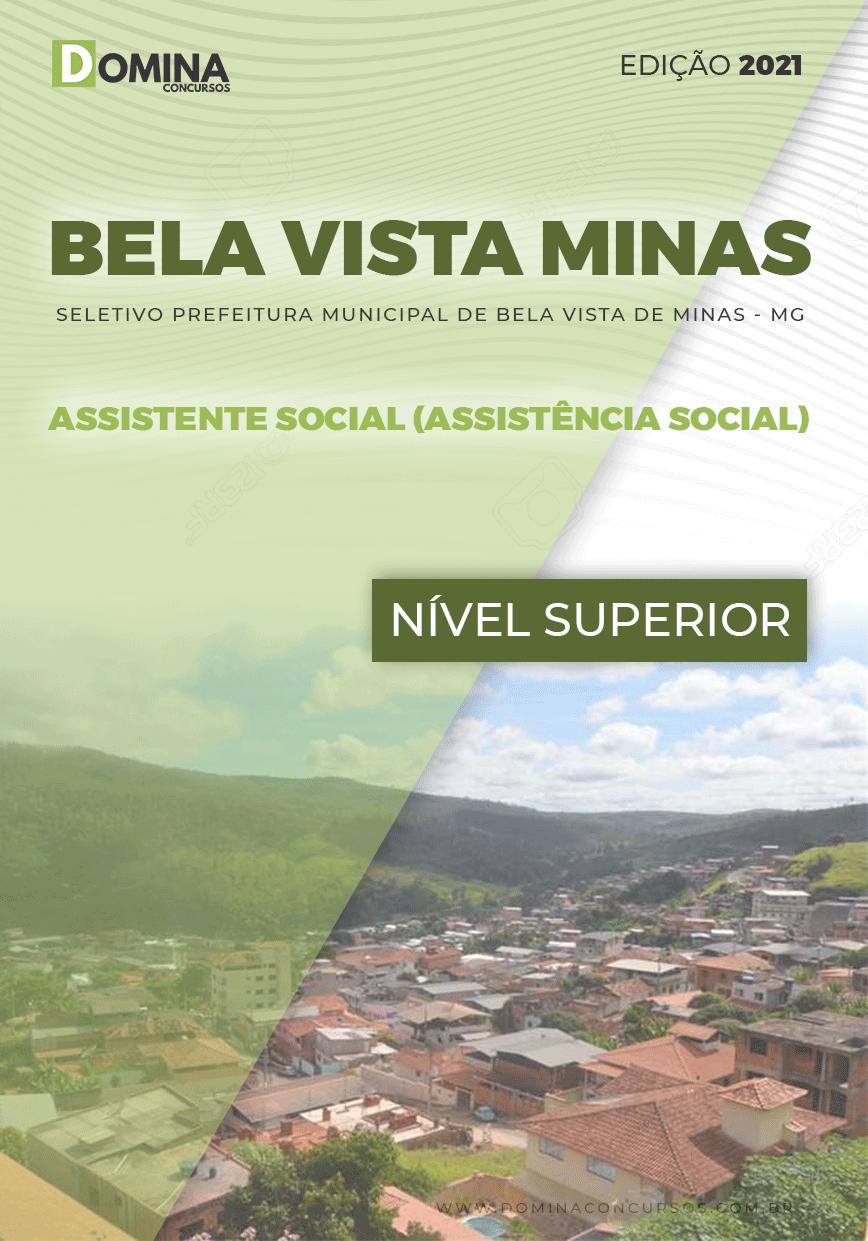 Apostila Bela Vista de Minas MG 2021 Assistente Social