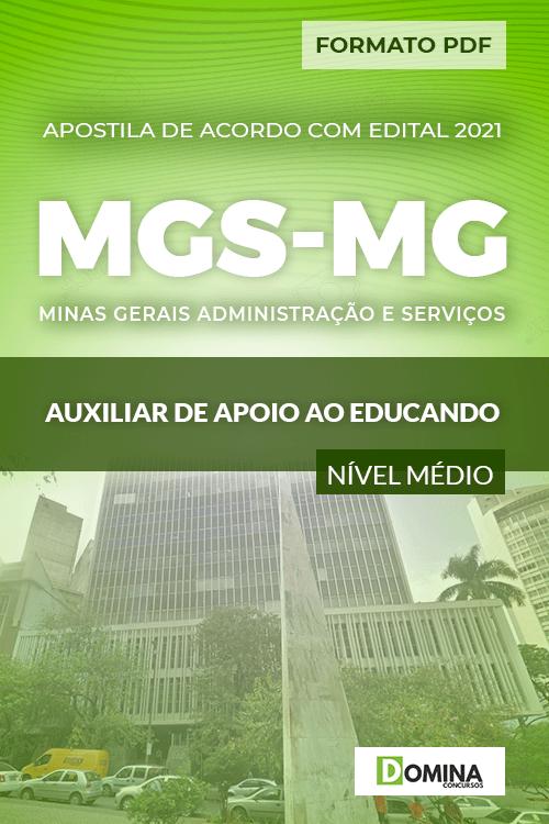 Apostila Seletivo MGS MG 2021 Auxiliar Apoio ao Educando