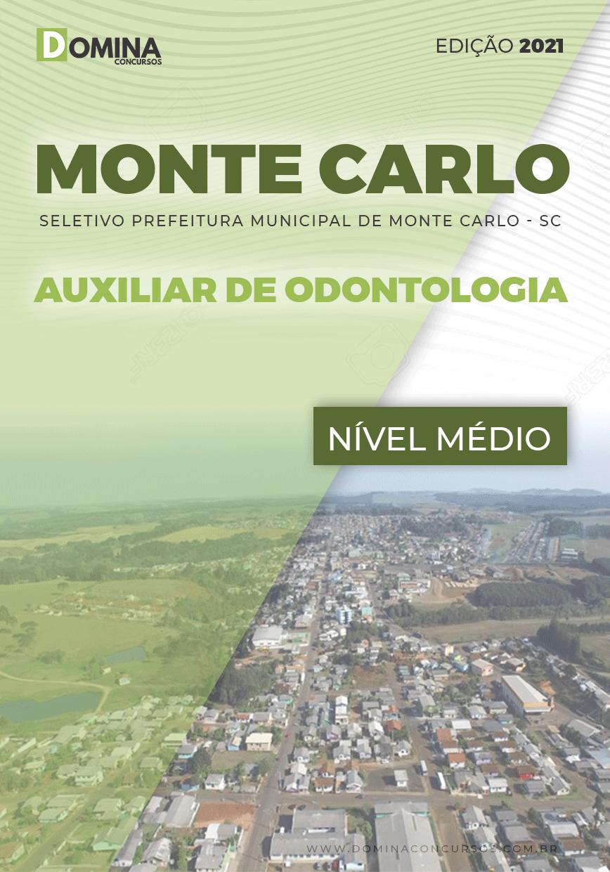 Apostila Pref Monte Carlo SC 2021 Auxiliar de Odontologia
