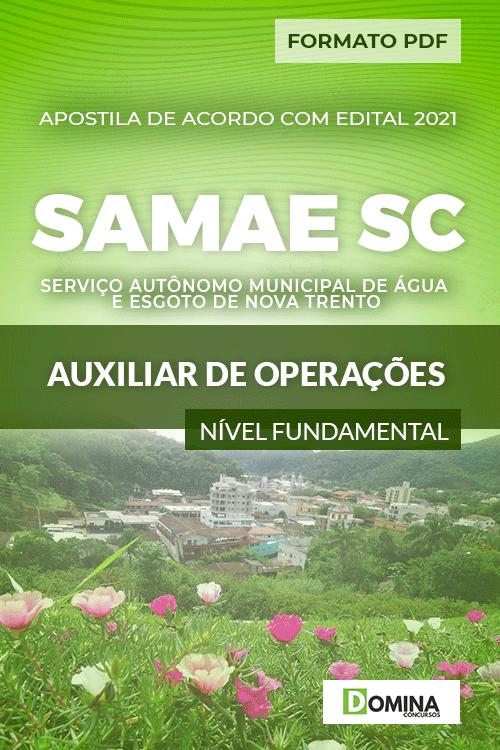 Apostila SAMAE Nova Trento SC 2021 Auxiliar de Operações