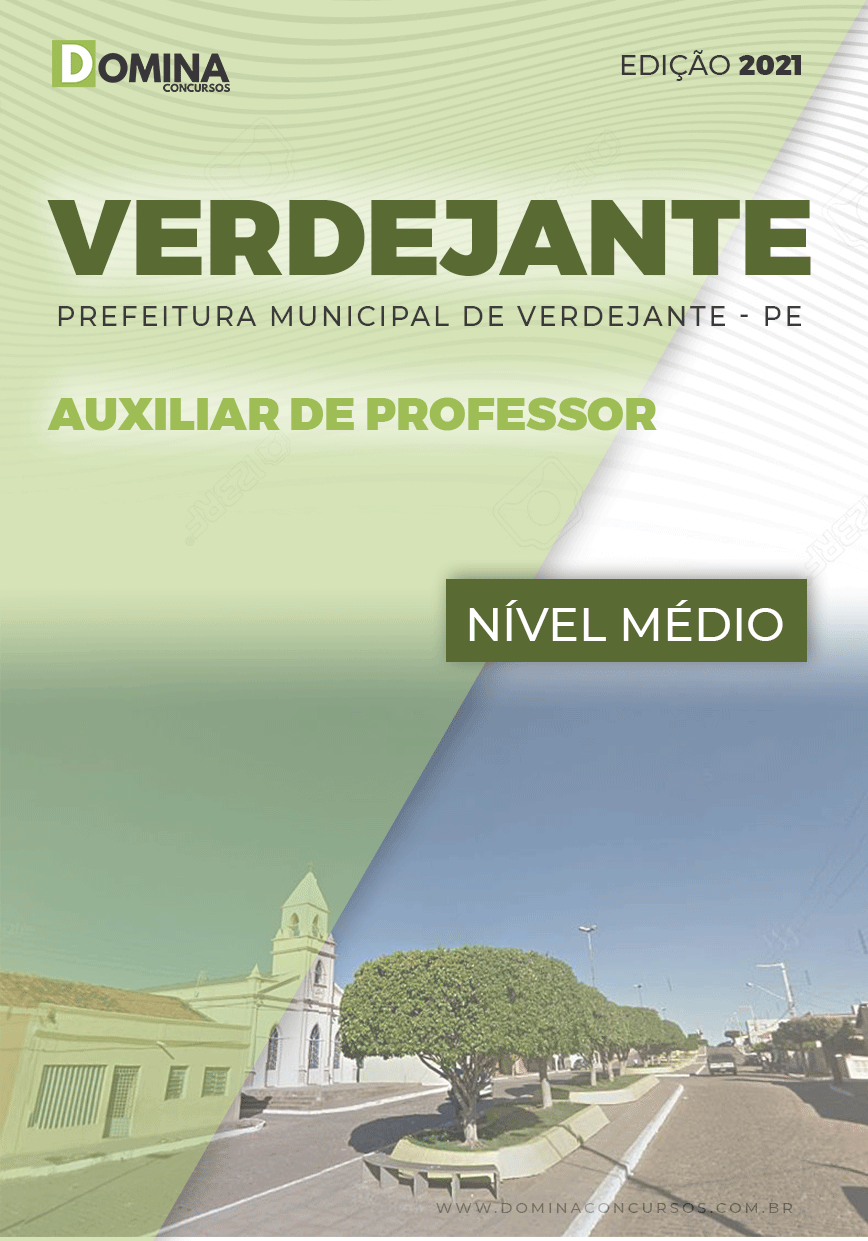 Apostila Concurso Verdejante PE 2020 Auxiliar de Professor