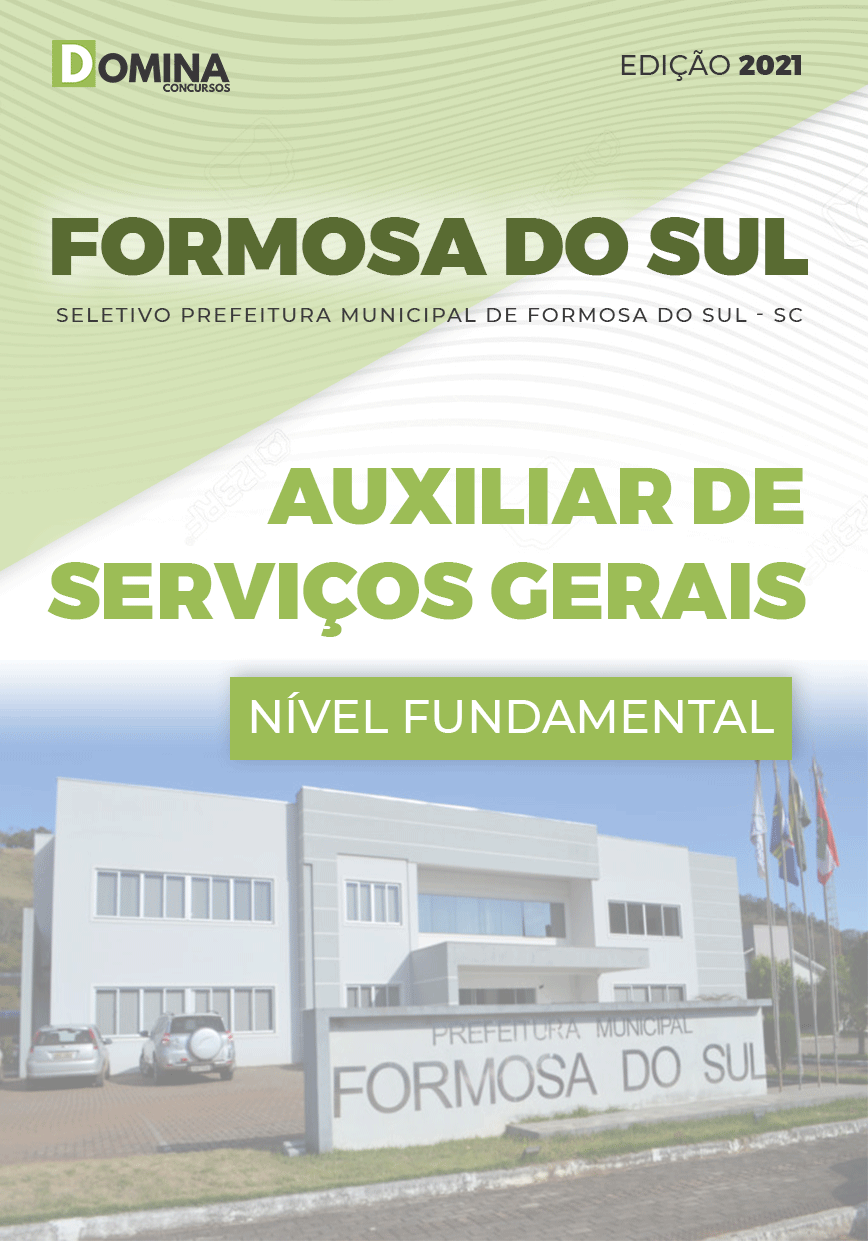 Apostila Formosa do Sul SC 2021 Auxiliar Serviços Gerais