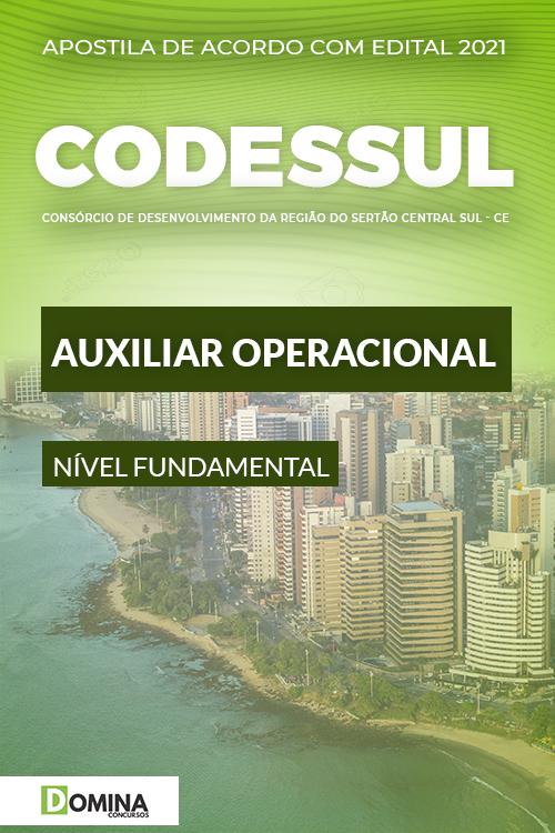 Apostila Concurso CODESSUL 2021 Auxiliar Operacional