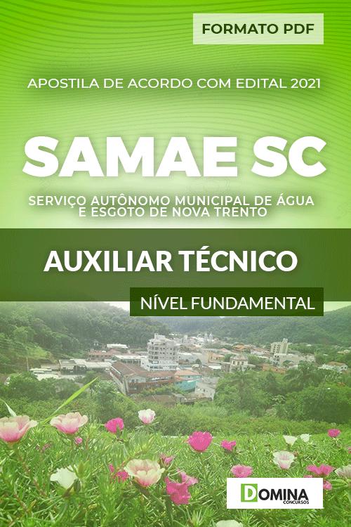 Apostila SAMAE Nova Trento SC 2021 Auxiliar Técnico