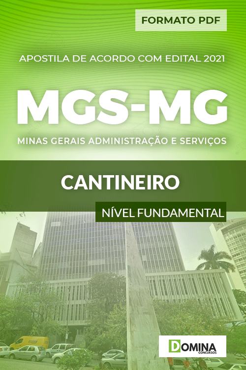Apostila Concurso Seletivo MGS MG 2021 Cantineiro