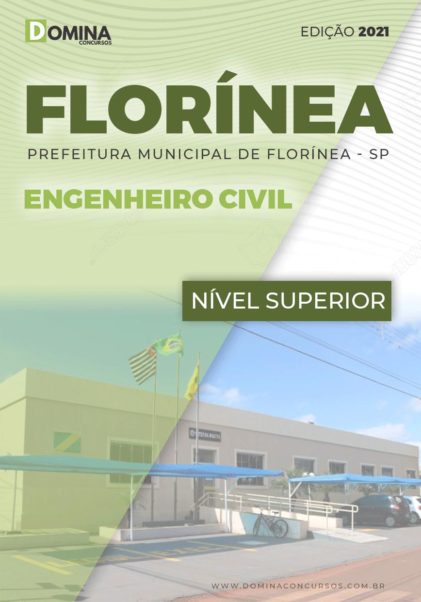 Apostila Prefeitura Florínea SP 2021 Engenheiro Civil