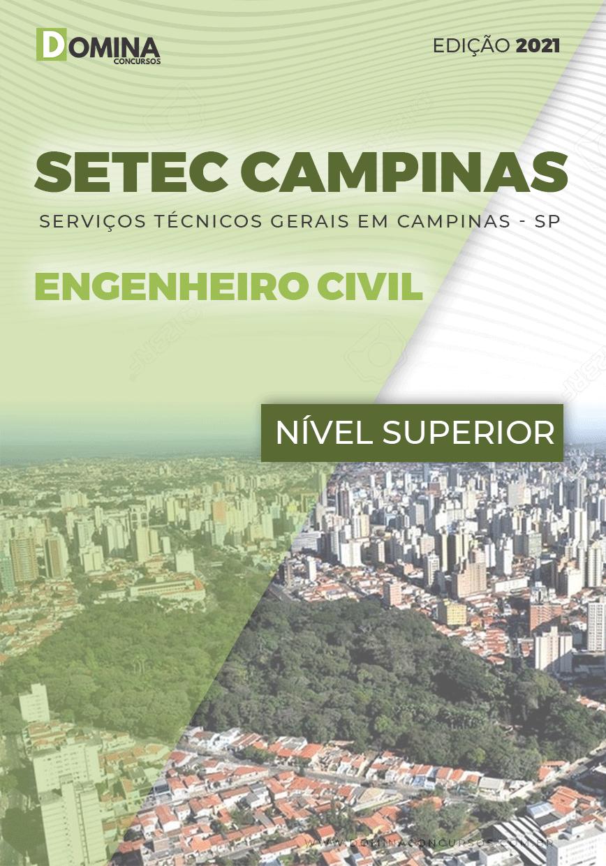 Apostila SETEC Campinas SP 2021 Engenheiro Civil