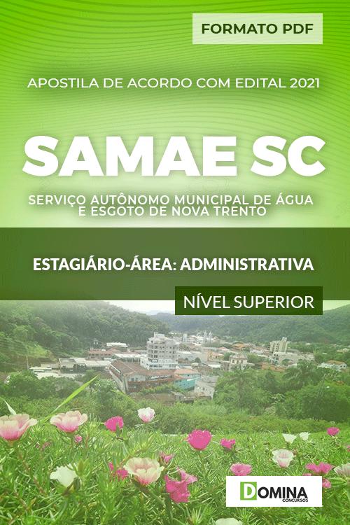 Apostila SAMAE Nova Trento SC 2021 Estagiário área Administrativa