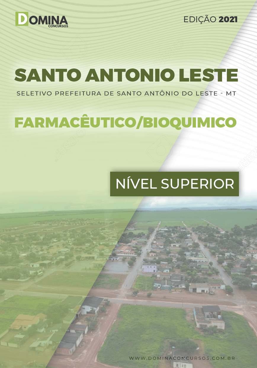 Apostila Santo Antônio Leste MT 2021 Farmacêutico Bioquímico