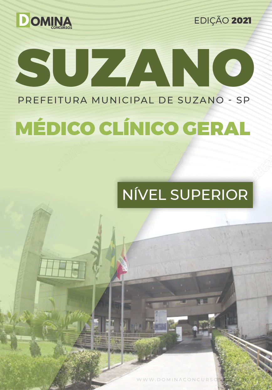 Apostila Concurso Suzano SP 2021 Médico Clínico Geral