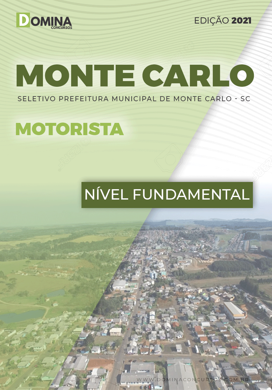Apostila Seletivo Pref Monte Carlo SC 2021 Motorista