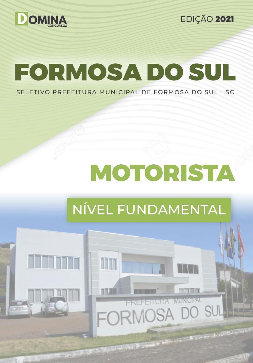 Apostila Concurso Formosa do Sul SC 2021 Motorista