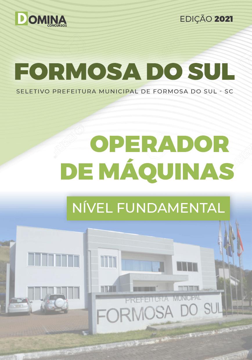 Apostila Formosa do Sul SC 2021 Operador de Máquinas