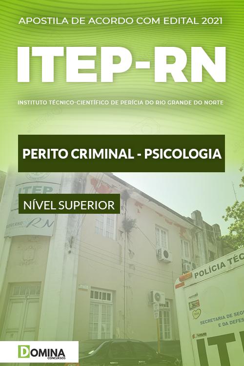 Apostila Concurso ITEP RN 2021 Perito Criminal Psicologia