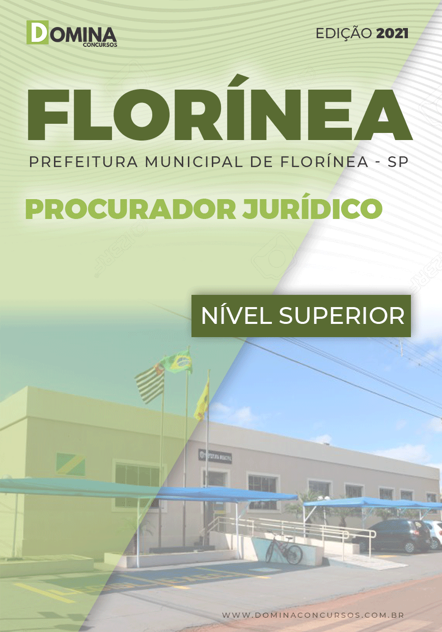 Apostila Prefeitura Florínea SP 2021 Procurador Jurídico