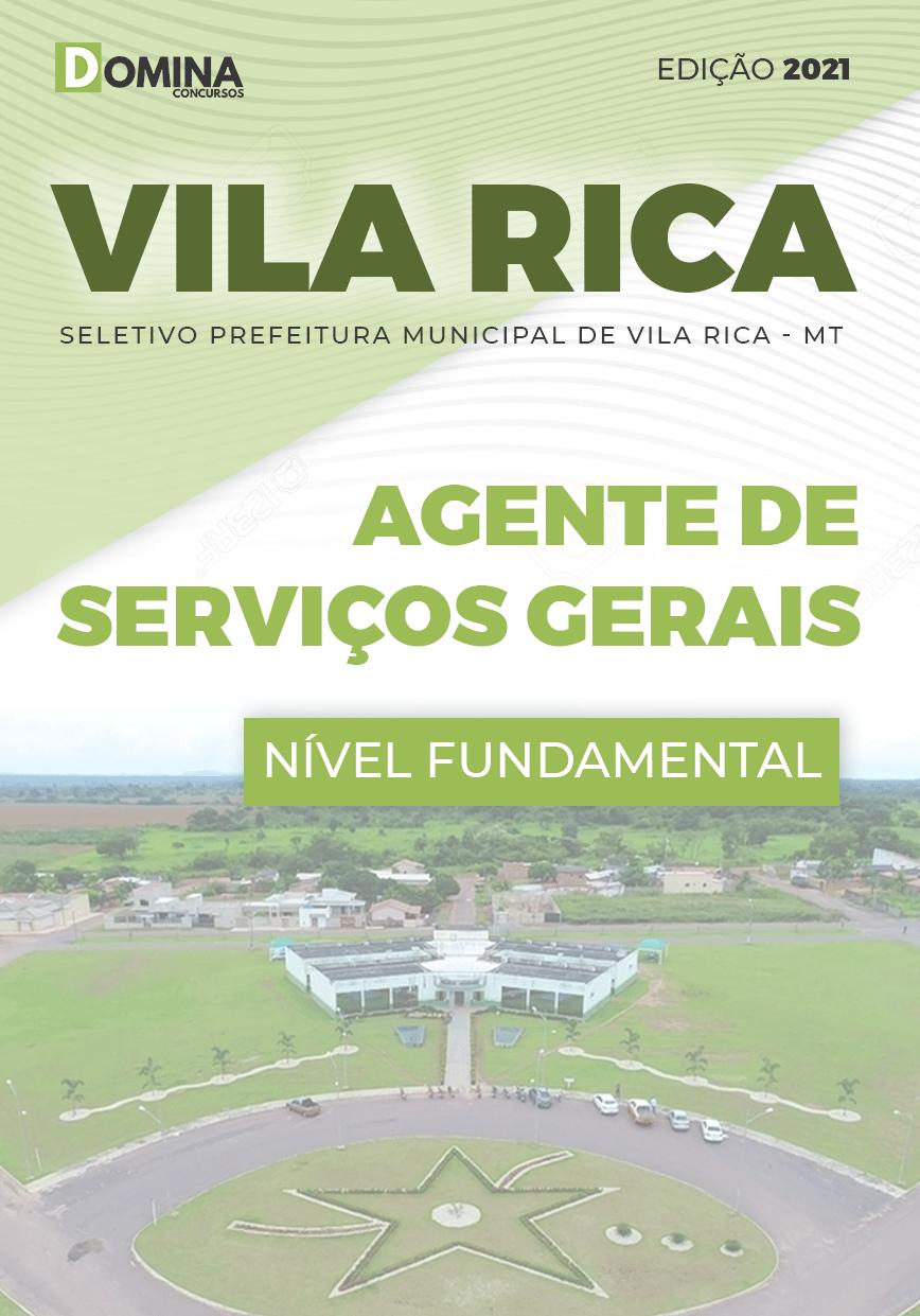 Apostila Pref Vila Rica MT 2021 Agente de Serviços Gerais