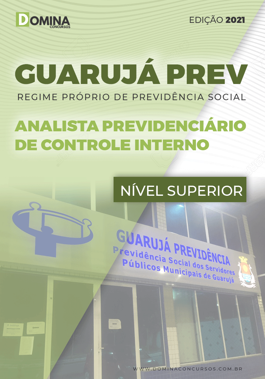 Apostila Guarujá PREV SP 2021 Analista Previdenciário Controle Interno