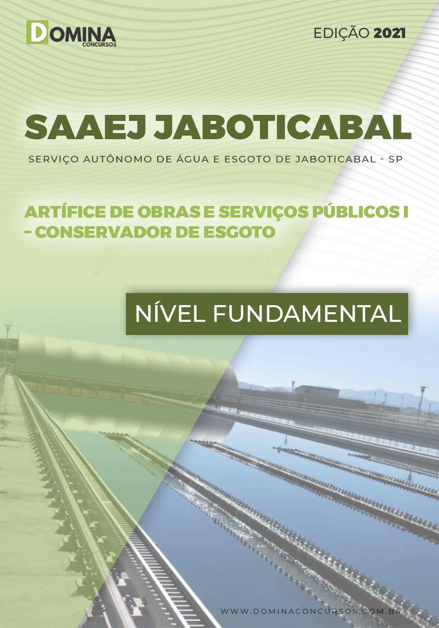 Apostila SAAEJ Jaboticabal SP 2021 Conservador de Esgoto