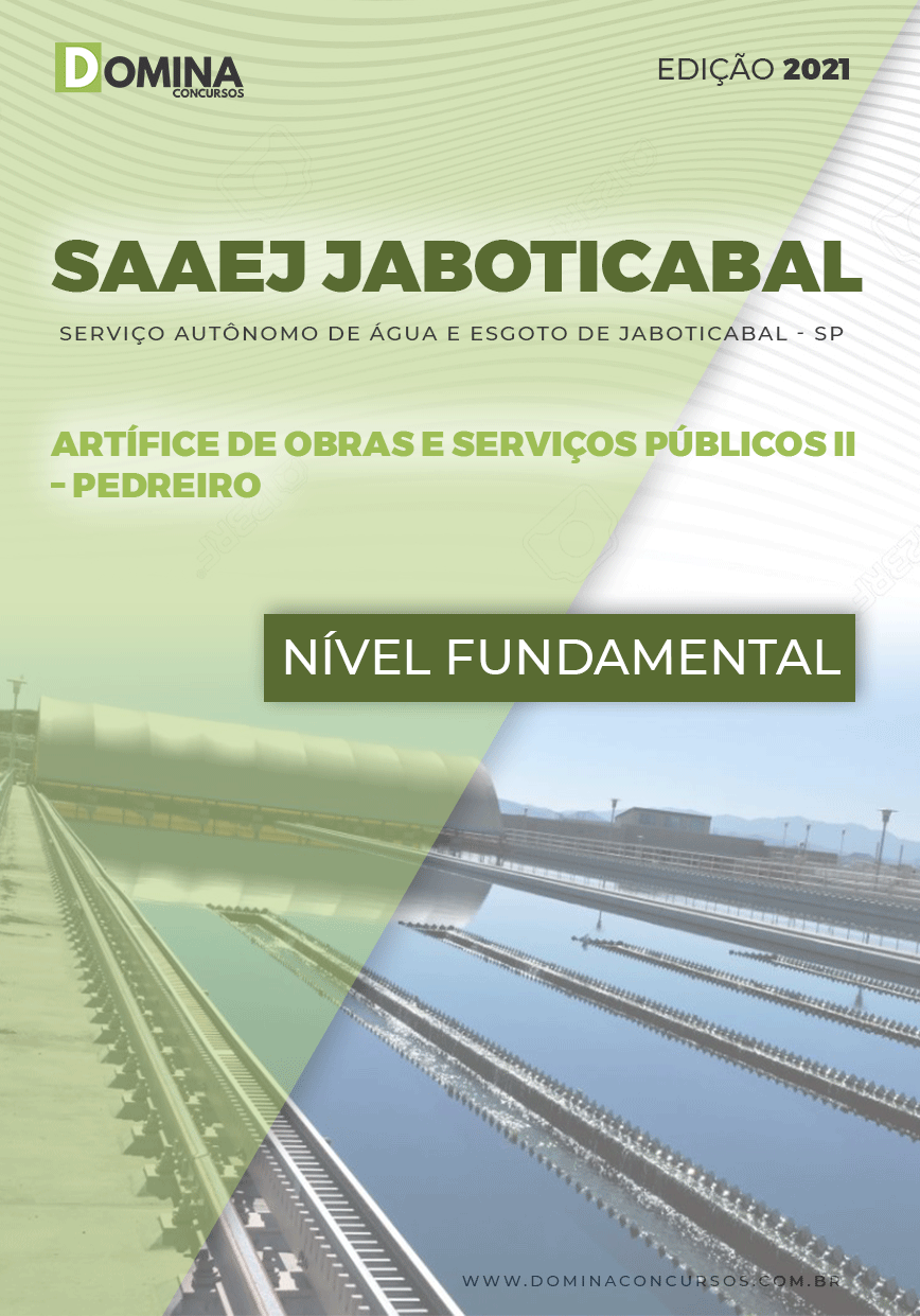 Apostila Concurso SAAEJ Jaboticabal SP 2021 Pedreiro