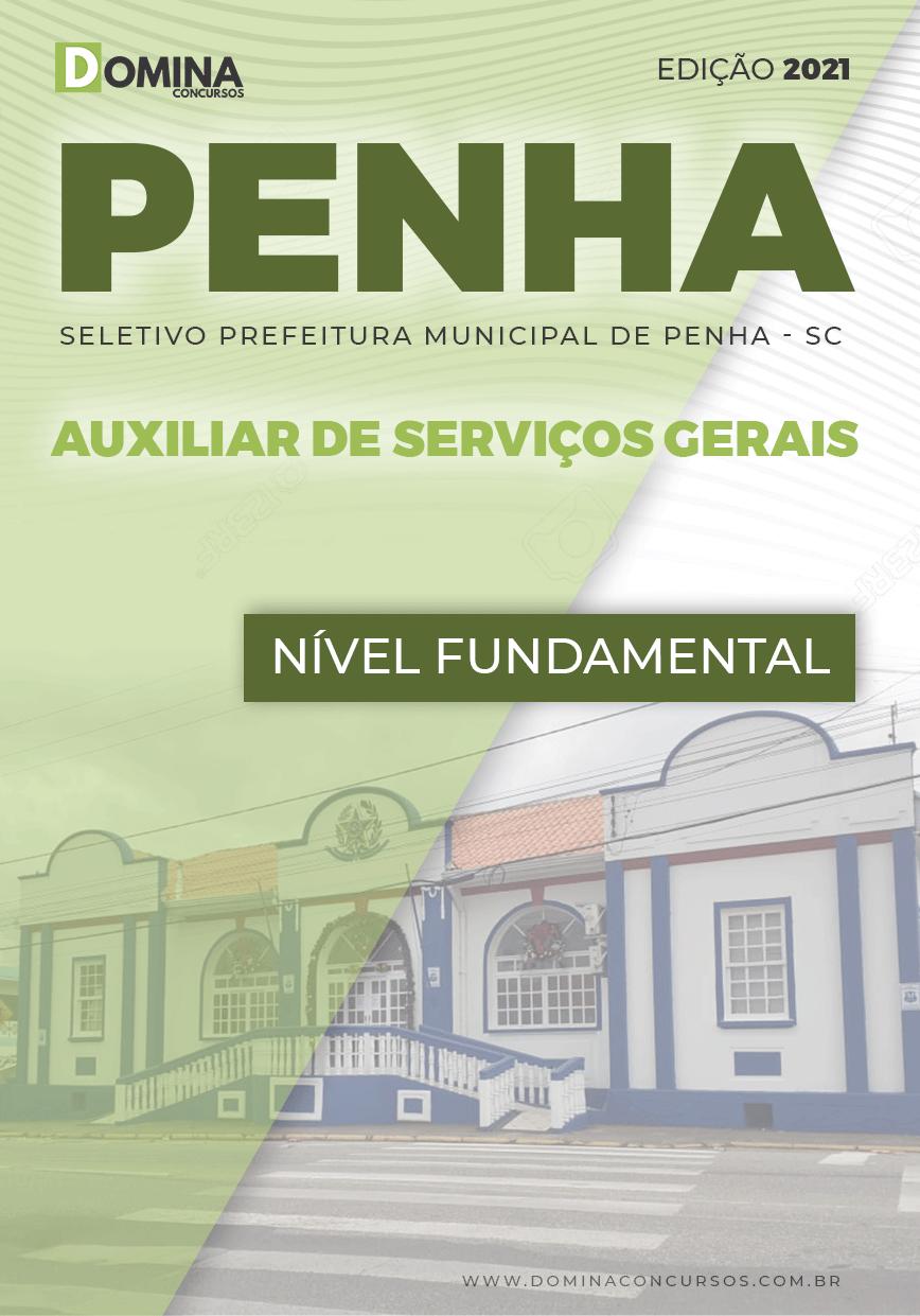 Apostila Seletivo Pref Penha SC 2021 Auxiliar de Serviços Gerais