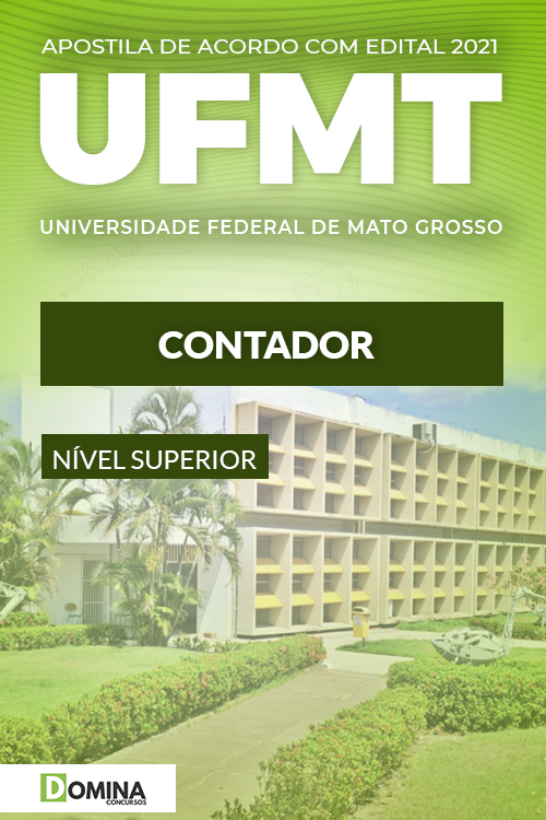 Apostila Concurso Público UFMT 2021 Contador PDF