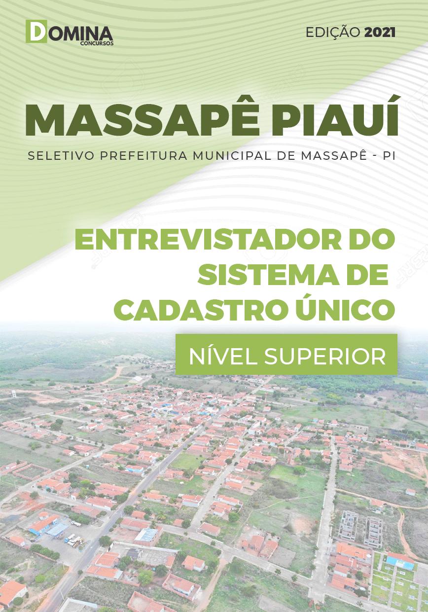 Apostila Pref Massapê Piauí PI 2021 Entrevistador Cadastro Único