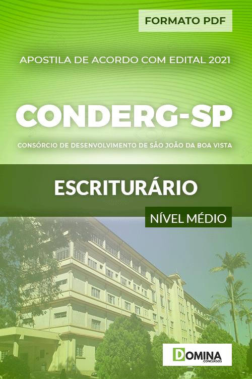 Apostila Processo Seletivo CONDERG SP 2021 Escriturário