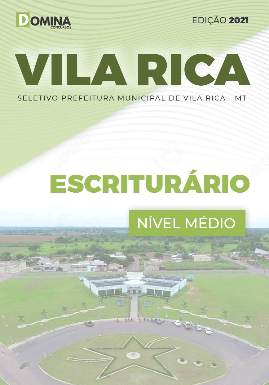 Apostila Processo Seletivo Pref Vila Rica MT 2021 Escriturário