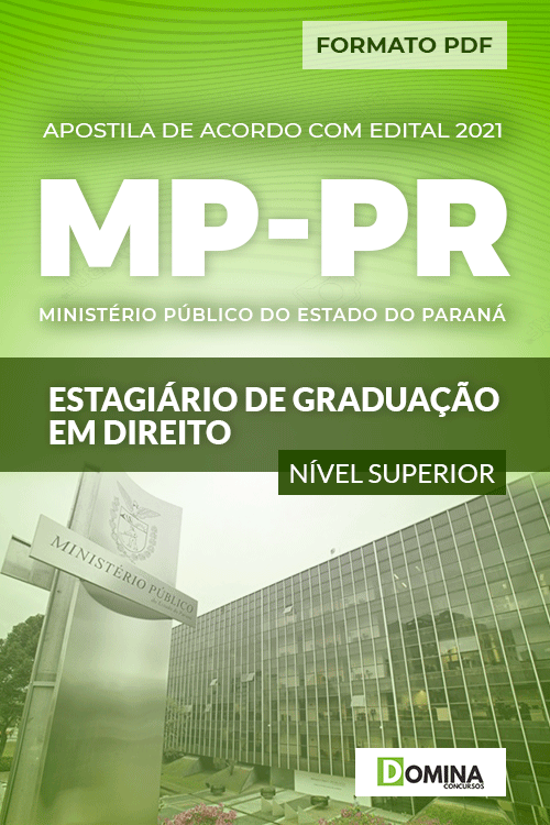 Apostila Seletivo MP PR 2021 Estagiário de Graduação em Direito