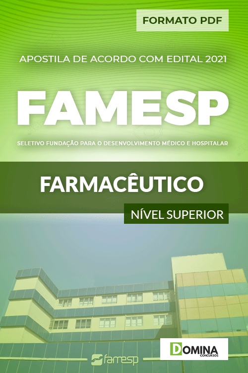 Apostila Processo Seletivo FAMESP 2021 Farmacêutico