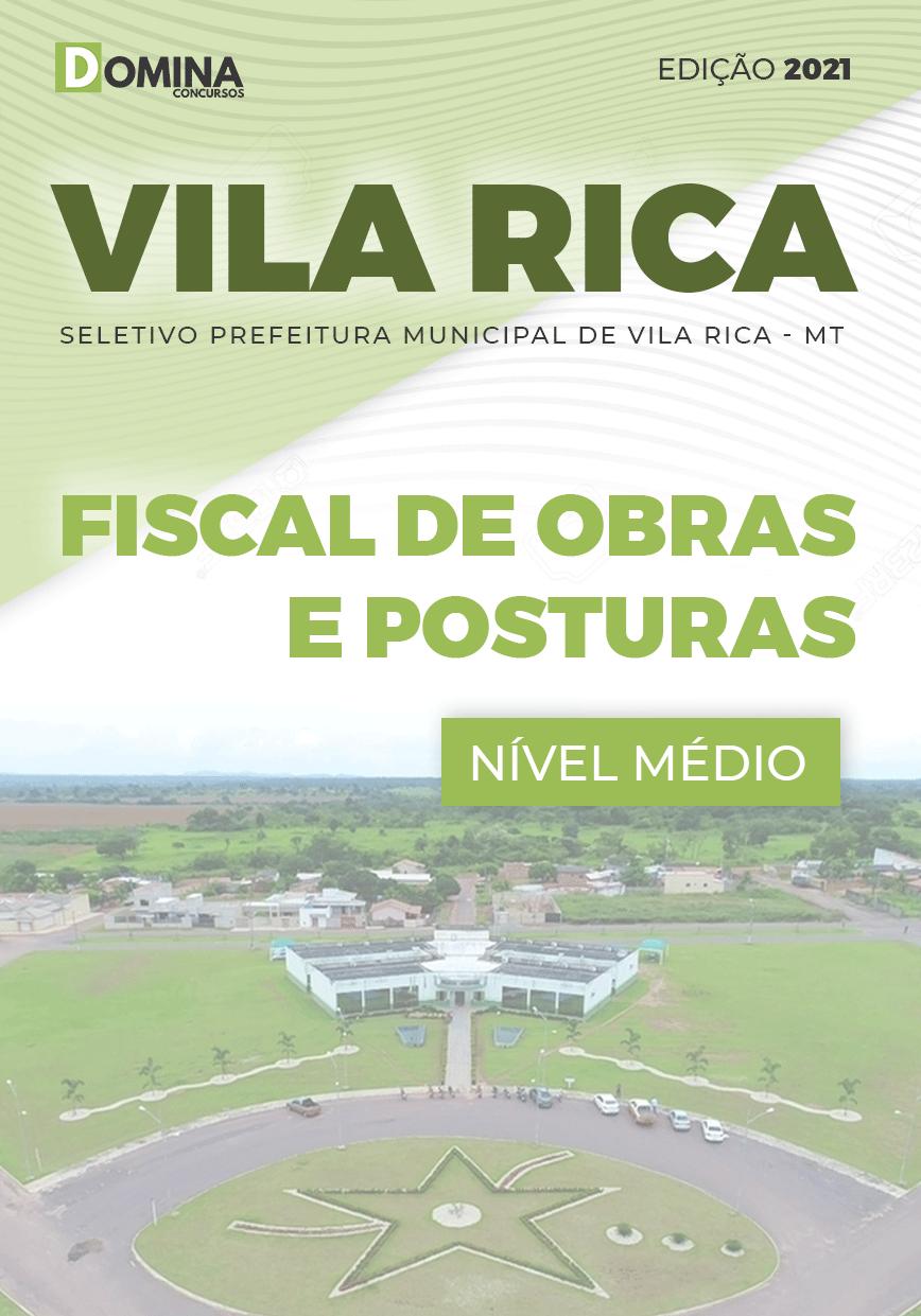Apostila Seletivo Pref Vila Rica MT 2021 Fiscal Obras e Posturas