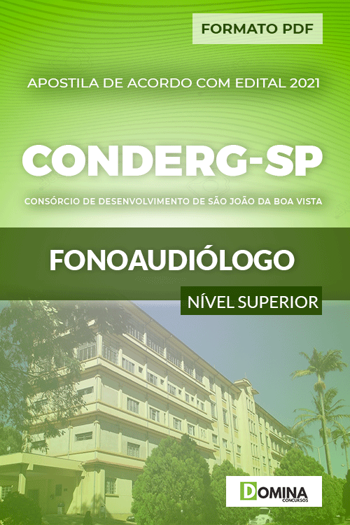 Apostila Processo Seletivo CONDERG SP 2021 Fonoaudiólogo