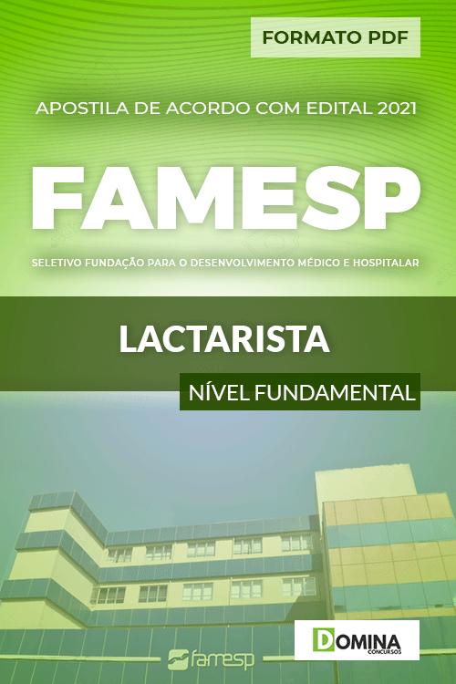 Apostila Processo Seletivo FAMESP 2021 Lactarista