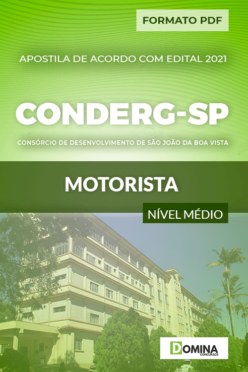 Apostila Processo Seletivo CONDERG SP 2021 Motorista