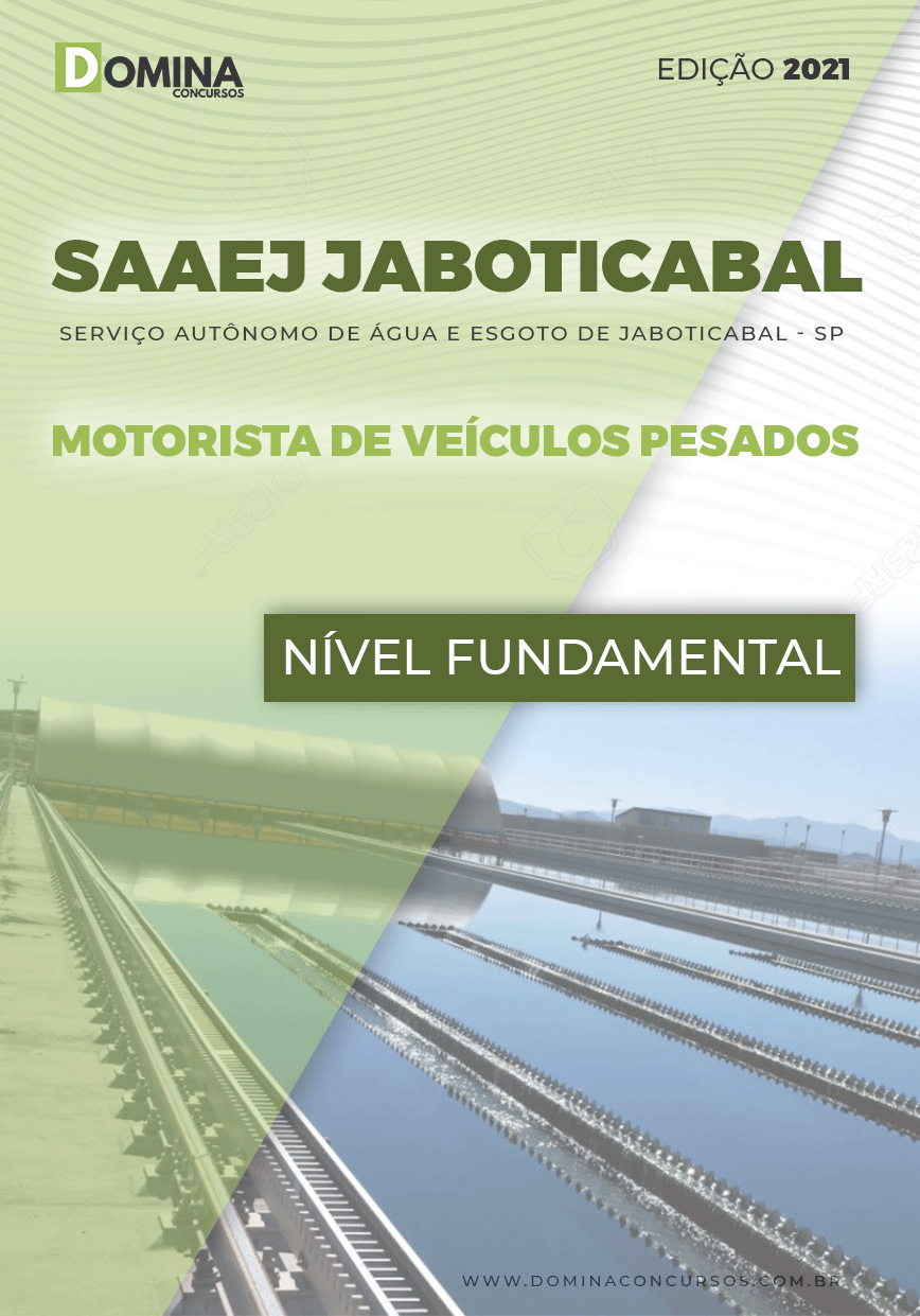 Apostila SAAEJ Jaboticabal SP 2021 Motorista Veículos Pesados