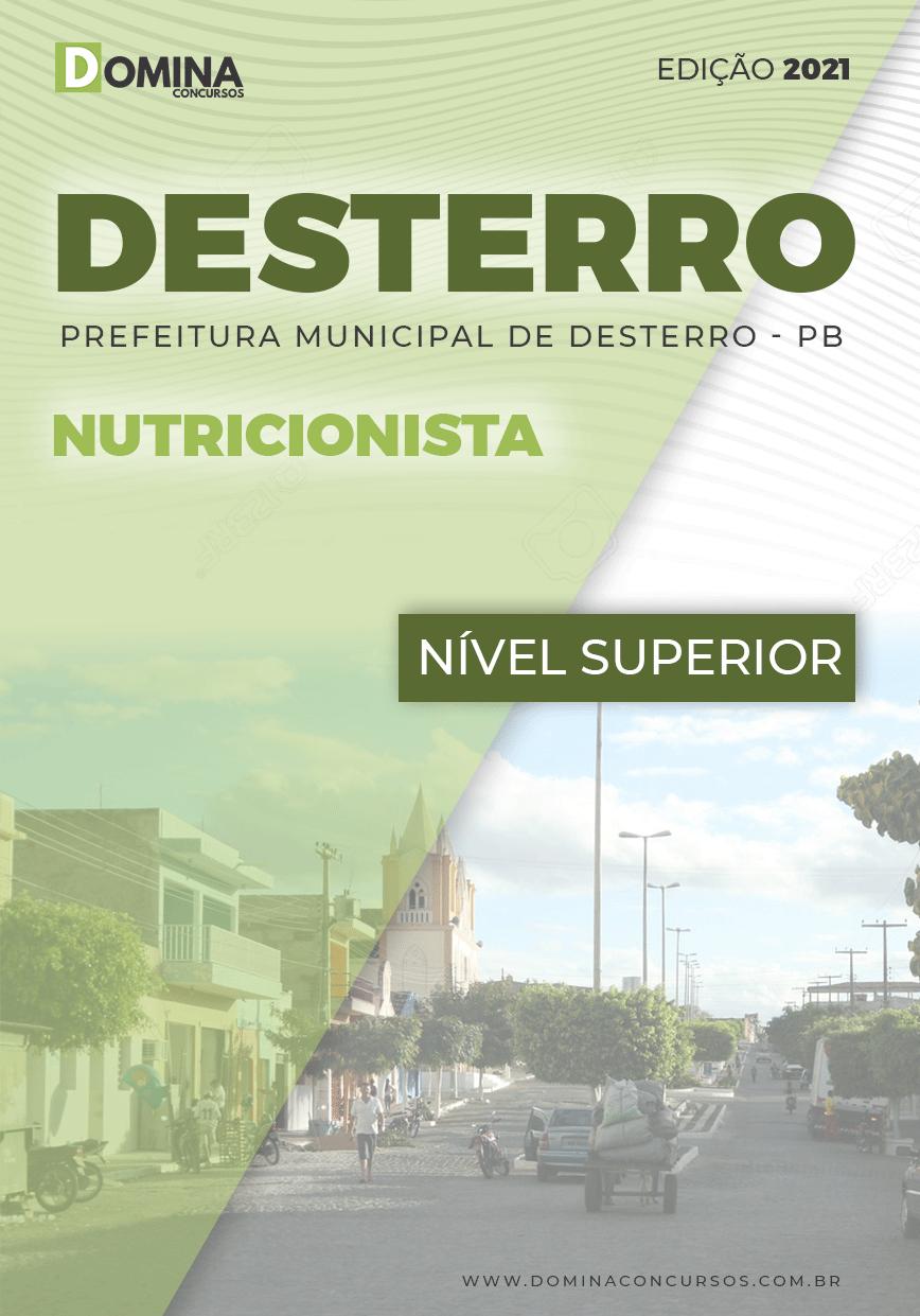 Apostila Concurso Público Pref Desterro PB 2021 Nutricionista