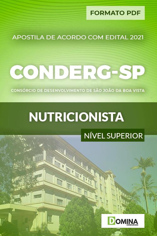 Apostila Processo Seletivo CONDERG SP 2021 Nutricionista