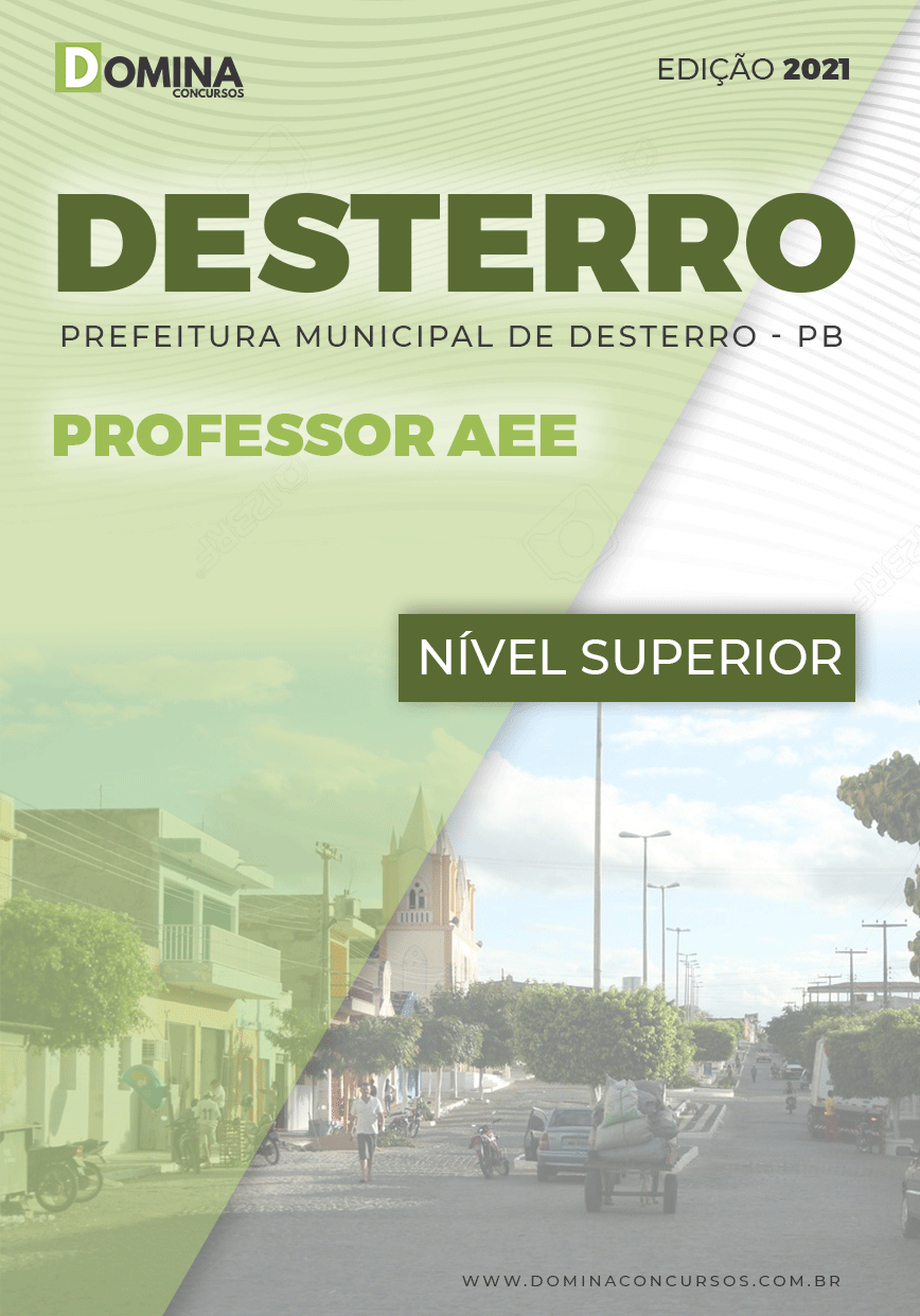 Apostila Concurso Público Pref Desterro PB 2021 Professor AEE